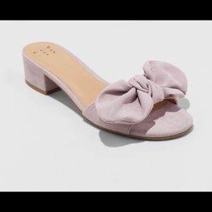 A New Day Target Knotted Bow Heeled Mule Lavender